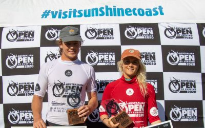 Sophie McCulloch and Cooper Davies Win Australian Open Of Surfing Sunshine Coast Pro