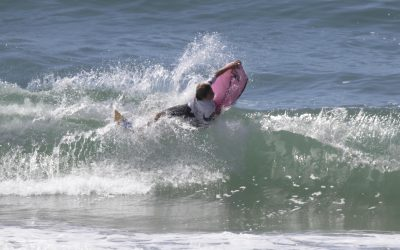 Luke Jackson takes out two Queensland bodyboarding titles in perfect conditions at Coolum Beach