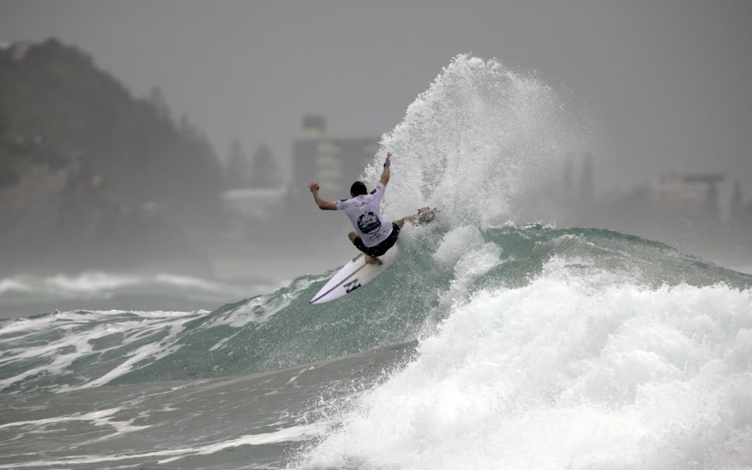 Queenslanders Kobie Enright and Curtis Ewing win the 2021 Gold Coast Open in picture perfect conditions at Burleigh Point