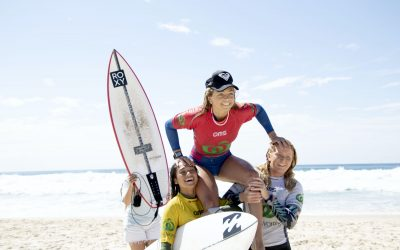 Three Sunshine Coasters crowned state champs at the Woolworths QLD Junior Titles at Tallebudgera Beach