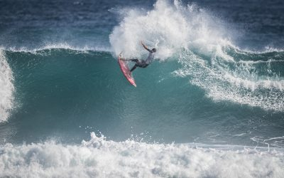 PUMPING WAVES FOR DAY 2 ELIMINATIONS AT BOOST MOBILE MARGARET RIVER PRO PRES. BY CORONA