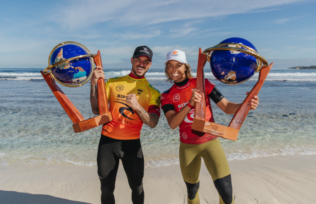 SALLY FITZGIBBONS AND GABRIEL MEDINA WIN RIP CURL ROTTNEST SEARCH PRES. BY CORONA