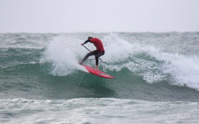 SURFERS BATTLE THE ELEMENTS AT THE OPENING STOP OF THE NORTH FREO STAND UP SURF SHOP WA SUP TITLES