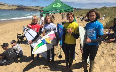 WOOLWORTHS TASMANIAN 2020/21 JUNIOR TITLES Rd 2. Nth Clifton Beach.