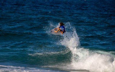 Aaron Kelly takes flight and Dimity Stoyle grooves her way to victory at the Gold Coast Pro