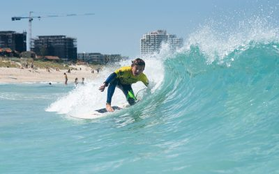 WA GROMMETS FROTH OUT IN SUMMER SWELLS AT STOP # 7 OF THE WOOLWORTHS SURFER GROMS COMPS
