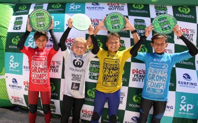 WEST OZ CHAMPIONS CROWNED AT THE WOOLWORTHS SURFER GROMS COMPS