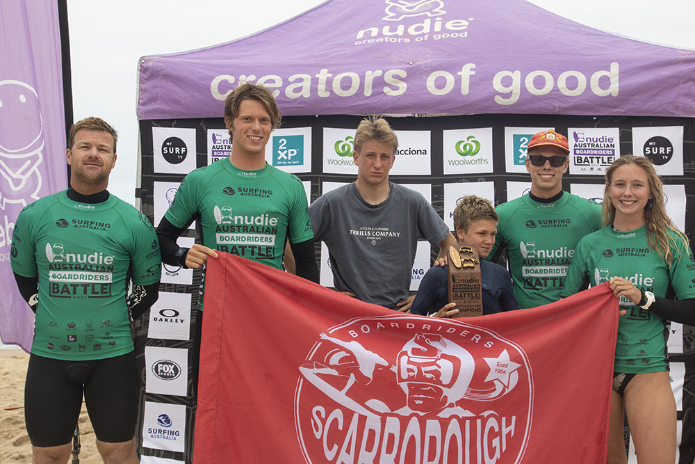 Scarborough wins nudie Australian Boardriders Battle in Kiama.