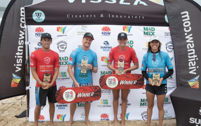Jackson Baker and Kobie Enright Claim Victories at the Port Stephens Pro presented by Mad Mex