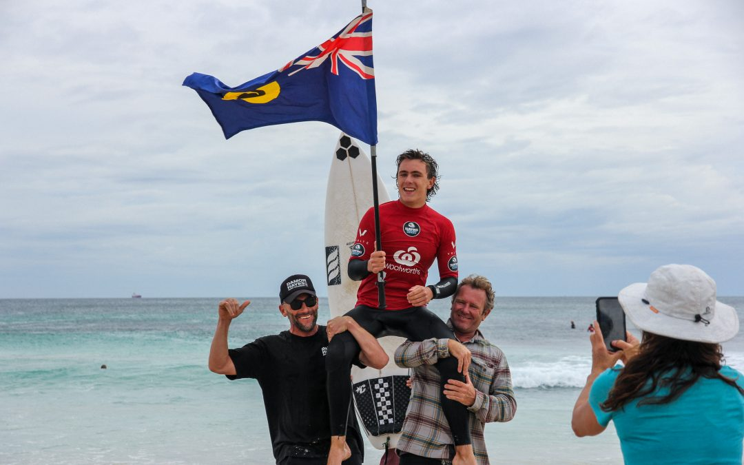 TROPICAL CYCLONE SEROJA PROVIDES A WET BUT WONDERFUL FINISH TO THE WOOLWORTHS WA JUNIOR SURF TITLES AT TRIGG POINT