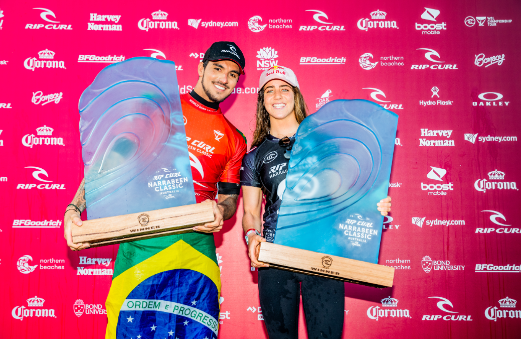Caroline Marks and Gabriel Medina Win Rip Curl Narrabeen Classic Pres. by Corona / Cibilic Continues His Run Of Form