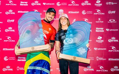 Caroline Marks and Gabriel Medina Win Rip Curl Narrabeen Classic Pres. by Corona / Cibilic Continues His Run Of Form