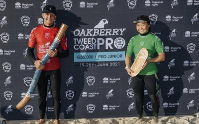 Lennix Smith and Sai Maniwa Take Victory at Oakberry Tweed Coast Pro Junior