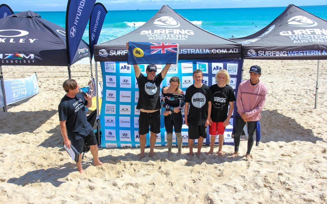 Margaret River Wins A Nail Biter At West Oz Hyundai Australian Boardriders Battle State Qualifier