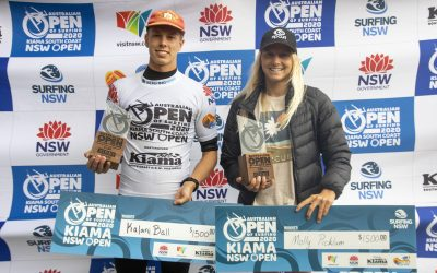 KALANI BALL AND MOLLY PICKLUM WIN 2020 KIAMA OPEN