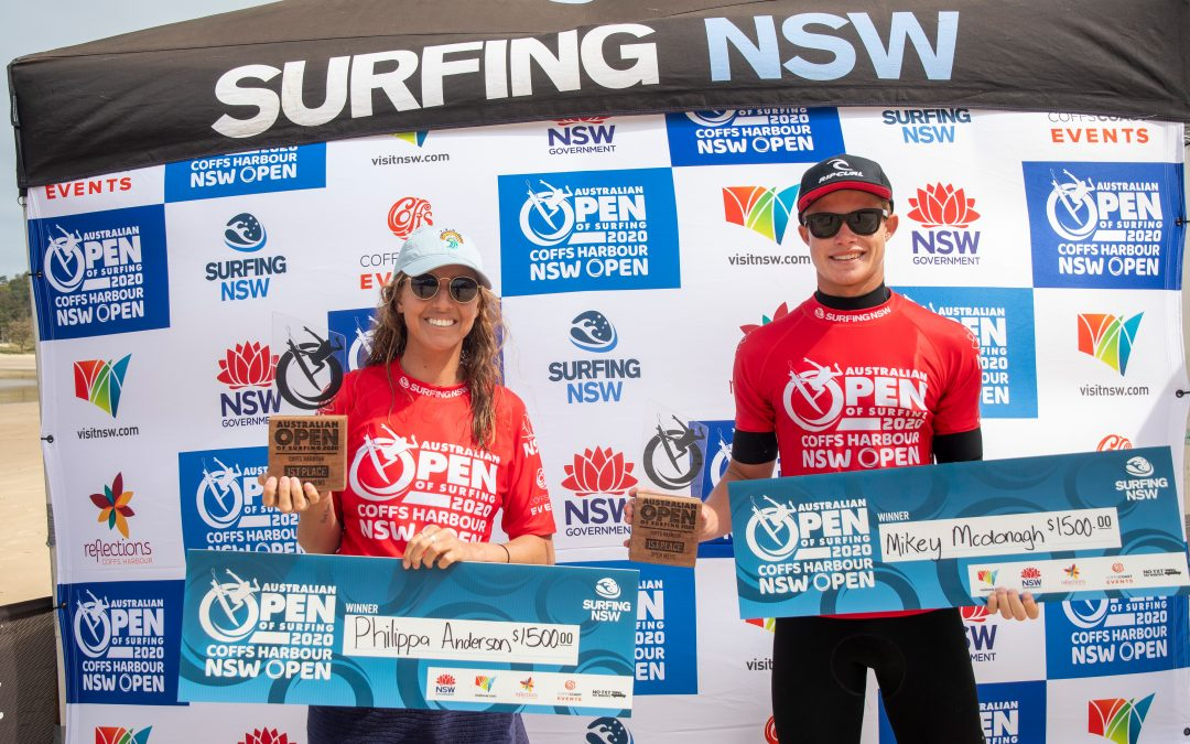 MIKEY MCDONAGH AND PHILIPPA ANDERSON WIN COFFS HARBOUR OPEN