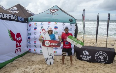 MOLLY PICKLUM AND REEF HEAZLEWOOD CLINCH FIRST QS VICTORIES OF 2021 SEASON AT GREAT LAKES PRO PRES. BY SURFERS RESCUE 24/7.