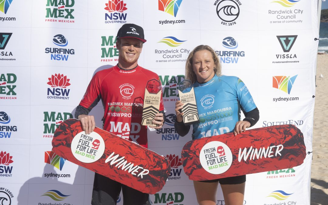 DYLAN MOFFAT AND INDIA ROBINSON TAKE OUT THE MAD MEX MAROUBRA PRO.