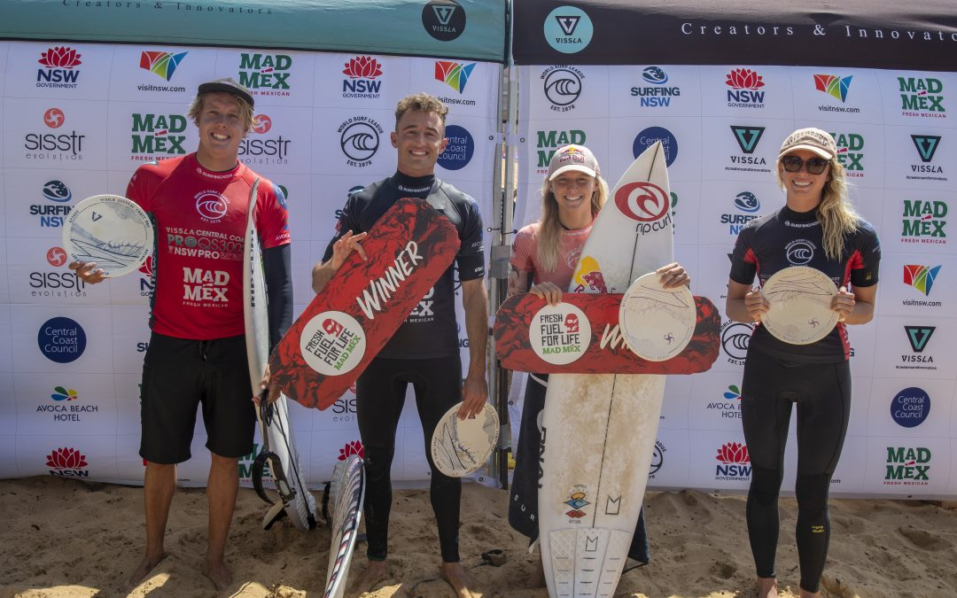 MOLLY PICKLUM AND MATT BANTING TAKE OUT THE 2021 VISSLA CENTRAL COAST PRO.
