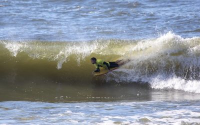 NSW BODYBOARD TITLES GETS OFF TO A FLYING START AT NEWCASTLE.