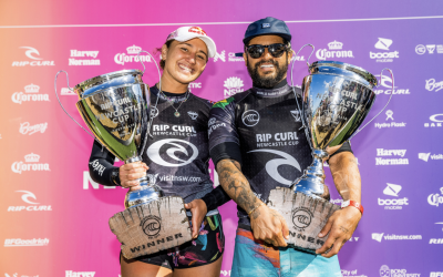 CARISSA MOORE AND ITALO FERREIRA WIN RIP CURL NEWCASTLE CUP