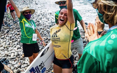 FITZGIBBONS WINS GOLD AND THE IRUKANDJIS FINISH FIFTH AT ISA WORLD SURFING GAMES