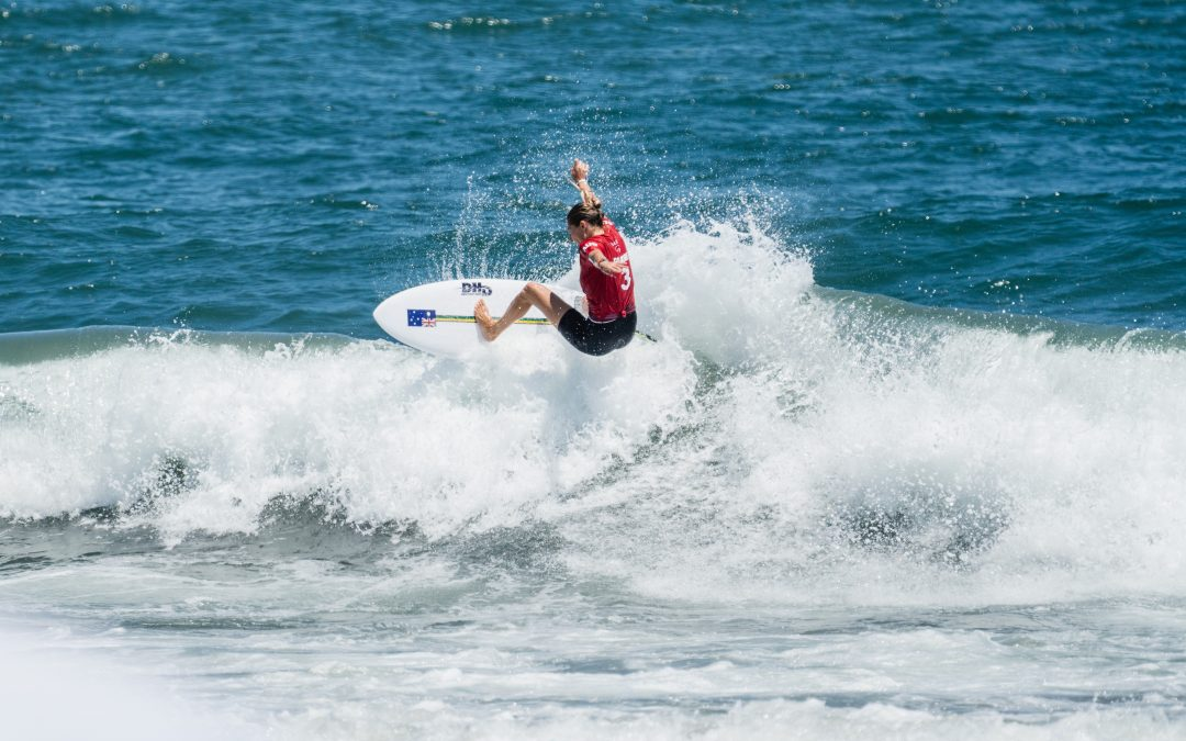 SURFERS RIIDE HISTORIC FIRST OLYMPIC WAVES